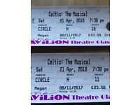 Celtic: The Musical Tickets - Glasgow Saturday 21st April