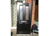 Black composite door for sale