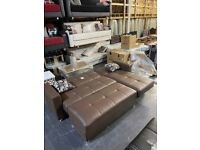 Branded L shape sofa leather material cash on delivery