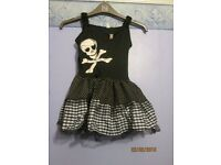 girls pirate fancy dress outfit age 8/10 years includes headband great for party or play