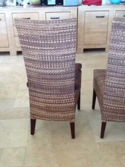 8 brown Cabana Loom dining chairs in excellent condition Arcadia Hornsby Area Preview