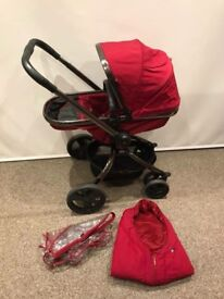 Mothercare orb Pram with Footmuff and rain cover