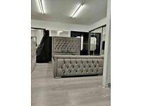 🔵💖🔴Ideal furniture shop🔵💖🔴DOUBLE SIZE PLUSH VELVET HEAVEN BED FRAME w OPTIONAL MATTRESS-.