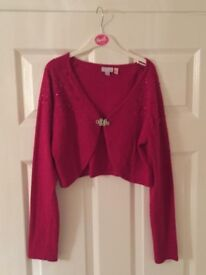 Monsoon maroon/berry cardigan aged 12-13 years