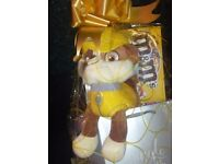 Paw patrol teddies and selection box wrapped