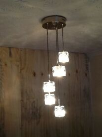 5 cube pendant light