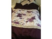 Brand New all matching - king size bed set & curtains