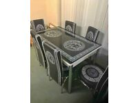 💖LUXURY STYLISH💝BRAND NEW STORAGE DINING TABLE WITH 6 CHAIRS💖FOR LUXURY HOME💝