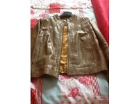 Ladies brown leather jacket, size 14, excellent condition