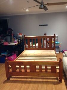 Wooden Queen size bed frame Metford Maitland Area Preview
