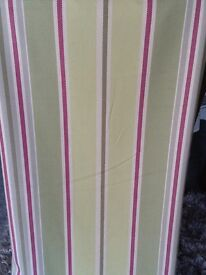 Green and plum stripe Next curtains