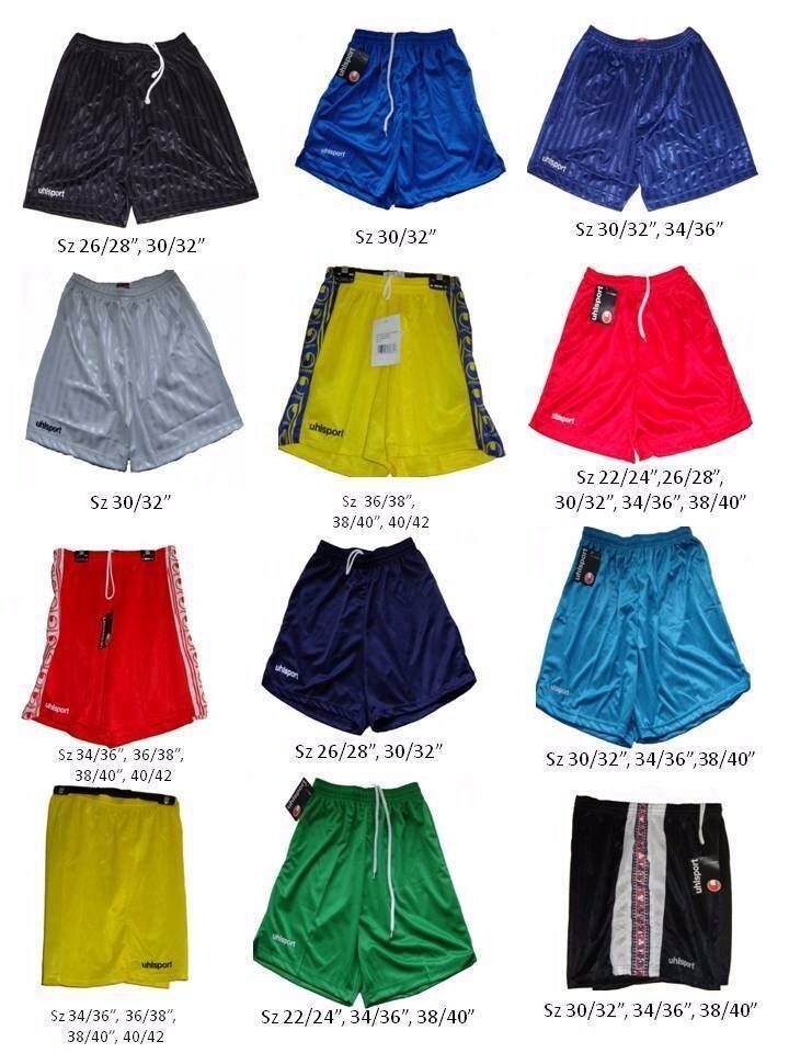 """Job Lot 300 Pieces Assorted Uhlsport Sportswear Football Shorts Brand Newin Wilmslow, CheshireGumtree - BRAND NEW UHLSPORT SPORTSWEAR FOOTBALL TEAM SHORTS 300 PIECES IN TOTAL MIXTURE OF COLOURS/SIZES NEEDS SPECIFICS? CONTACT US AND WE CAN SORT THIS OUT SIZES FROM 22 24, 26 28"""", 30 32"""" 34 36"""", 38 40"""" CHEAPER THAN MANUFACTURED RATE. QUALITY IS..."""
