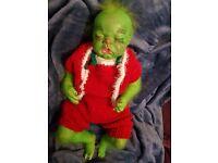 Reborn Baby Grinch OOAK