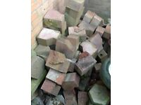 FREE - Assortment of Block Paving Stones from Driveway.