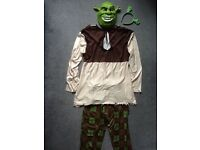 Shrek original mens large costume with extra ear band.