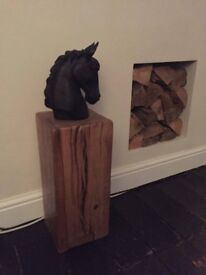 HAND MADE SOLID RUSTIC OAK BEAM COFFEE TABLE / SIDE TABLE / LAMP STAND