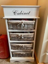 **BRAND NEW wooden & wicker storage drawers**