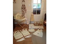 * Mamas and Papas full Nursery Set - Moses basket, cot bedding etc *