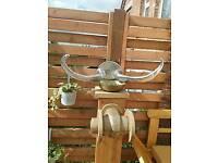 Crome bulls horns wall mounted