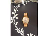 River island rose gold watch