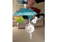 Fisher Price Precious Moments cot mobile with remote, excellent condition
