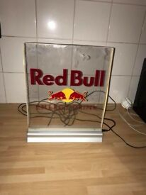 Light up electrical red bull sign