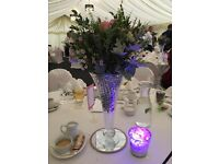 Beautiful Centre piece vases, perfect for weddings