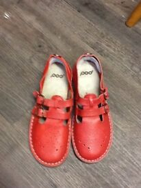 Brand new worn once red pod shoes