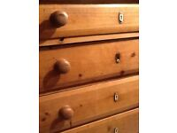Victorian pine drawers