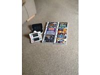 Nintendo ds lite and 4 games and charger