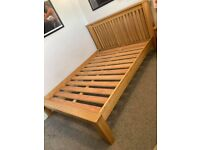 Solid oak double bed Free Delivery