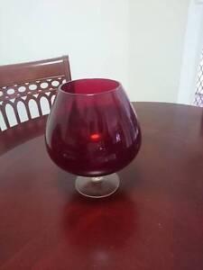 Red glass Brandy Balloon Tinana Fraser Coast Preview