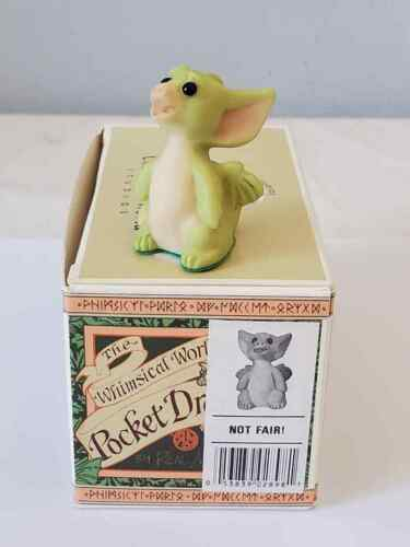 """1999 Whimsical World of Pocket Dragons  """" Not Fair """" Mint In Box"""