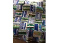 Handmade patchwork throw/tablecloth