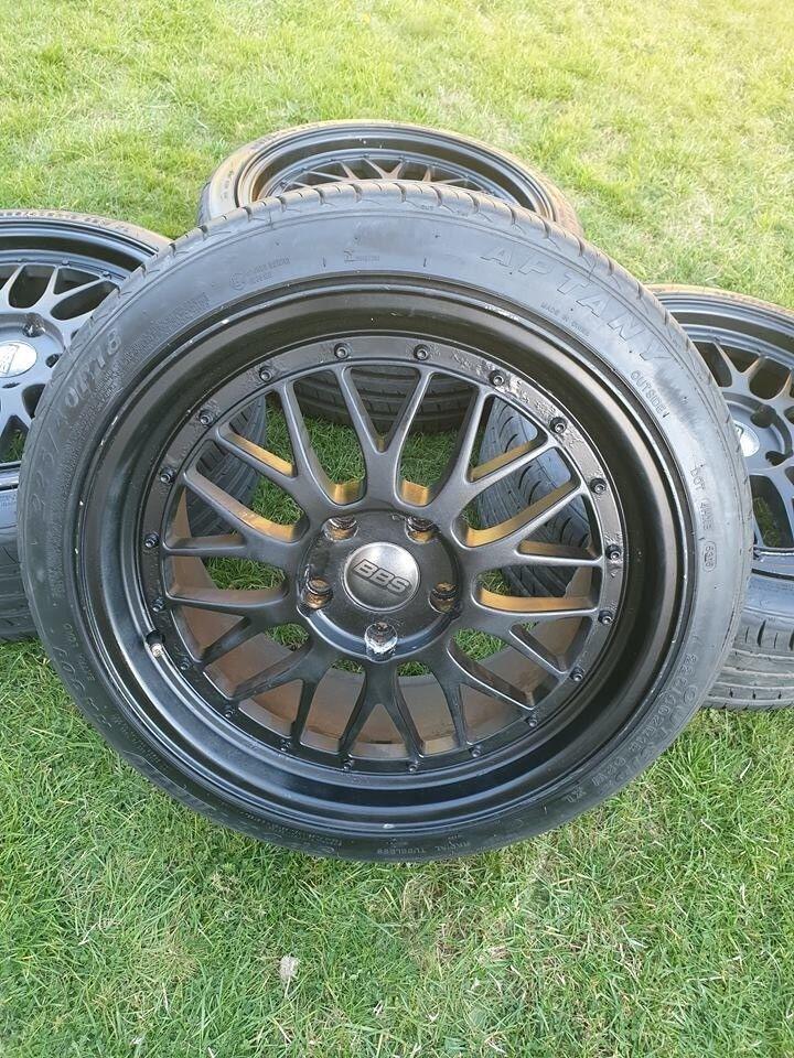 Bbs Lm Alloy Wheels Black 5x120 Bmw E46 E9x E39 E60 T5 Reps Deep Dish New Tyres In High Wycombe Buckinghamshire Gumtree