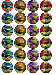 24-x-4cm-Teenage-Mutant-Ninja-Turtles-Edible-Icing-Cupcake ...