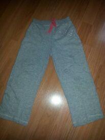 AGE 5-6, light grey tracksuit bottoms