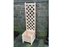 Wooden Planter Boxes with Climber Trellis