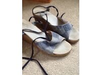 Womens wedge sandals, size 40