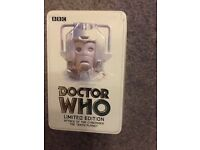 Dr Who limited edition tin of 2 vhs videos Attack of the Cybermen and The Tenth Planet from 2000
