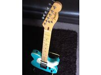 Charvel telecaster guitar with Fender neck, Made in Japan