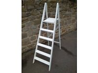 Refurbished & painted 5ft wooden ladders