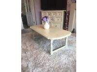 Shabby chic table cream stunning coffee table