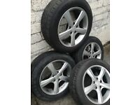 4 × ELTEX star alloy wheels & tyres 215/ 55 R16 Vectra, Astra