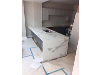 Granite, Marble and Quartz Kitchen Worktops. Glass Splash back, Fire places and Bars