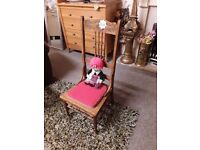 Vintage oak carved child's chair Copley Mill LOW COST MOVES 2nd Hand Furniture STALYBRIDGE SK15 3DN