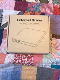 Portable, external disc player