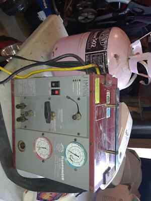Fluoromizer 6000 Refrigerant Recovery Machine And Full Tank