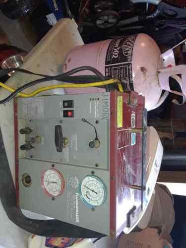 Fluoromizer 6000 Refrigerant Recovery Machine and full tank