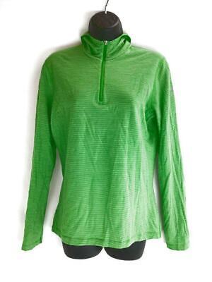 Icebreaker Bodyfit 200 Womens Size Large  Green Merino Base Layer Sweater